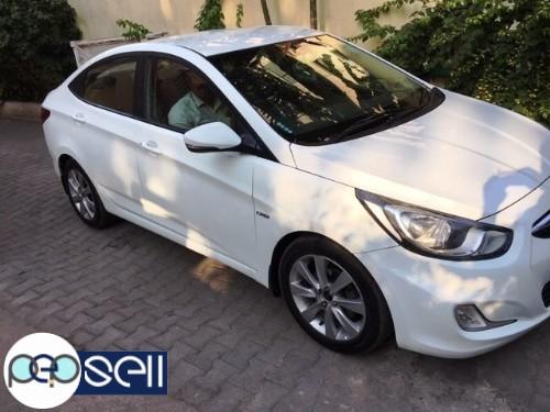 2013 Hyundai Fluid Verna SX Diesel White colour single owner 82900 km driven insurance till may 2020 2