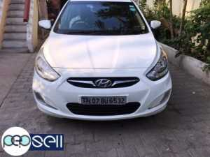 2013 Hyundai Fluid Verna SX Diesel White colour single owner 82900 km driven insurance till may 2020