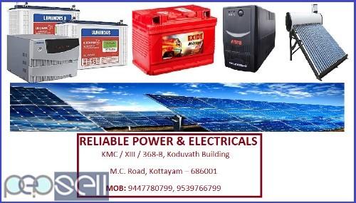 RELIABLE POWERS & ELECTRICALS, Solar Inverter Dealer in Kottayam 0