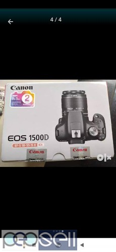 Canon 1500 D DSLR camera new in a sealed box with 16 GB card and carry bag. 1