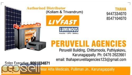 PERUVELIL AGENCIES -Livfast Battery Distributors Kollam,Karunagappally,Anchal,Oachira,Punalur,Kottarakara 0