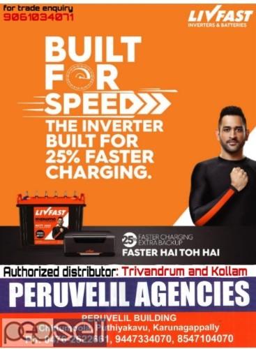 PERUVELIL AGENCIES -Livfast Battery Distributors Kollam,Karunagappally,Anchal,Oachira,Punalur,Kottarakara 2