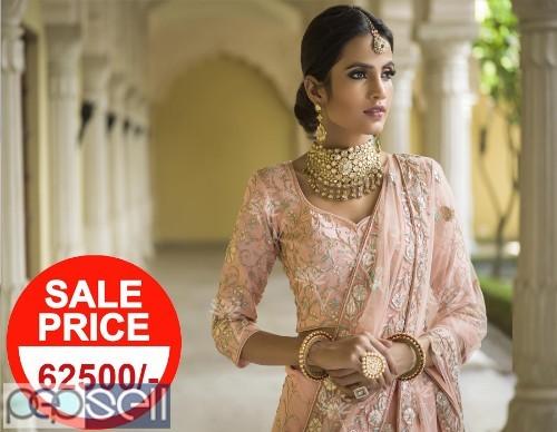 Vasansi Jaipur Pink Linen Lehenga Online 0