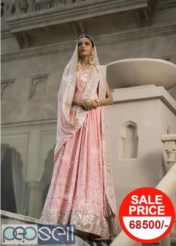 Vasansi Jaipur Pink Georgette Lehenga Online 0