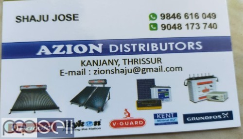 AZION DISTRIBUTORS -Racold Solar Water Heater Dealers Thrissur,Chalakudy,Chavakkad,Triprayar,Kanjany 0