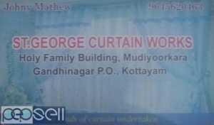 ST GEORGE Curtain manufacturers and installation  Kottayam Mannanam Kudamaloor Vaikom Pala Pambady