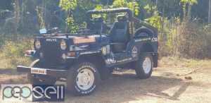 1987 model Mahindra jeep at Chalakudy