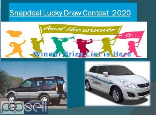 Snapdeal Lucky Draw Contest  2020 | Snapdeal Lucky Draw Winner List 2020  0