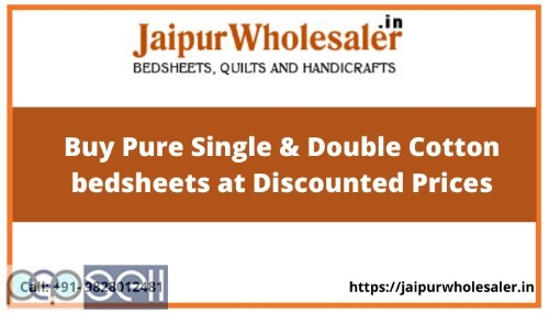 Buy Pure Single & Double Cotton bedsheets at Discounted Prices 0