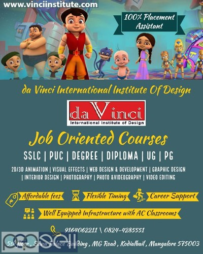 animation interior web graphic design institute in mangalore 1