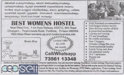Best Womens Hostel in Thrissur, Kerala   1