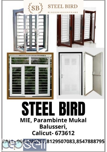 STEEL BIRD - Steel doors manufacturer - Steel window manufacturer - Steel window frame - Steel door frame - Balussery Calicut  0
