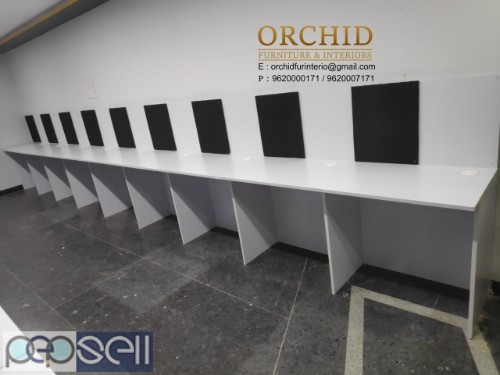 Workstation With Pinup Board 1499 each seater  Including Installation and 3 year warranty  18 mm thick Prelaminated HDF Board   Length 2.5ft - 30inc   1