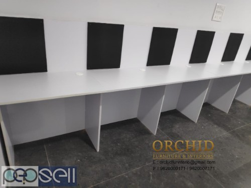 Workstation With Pinup Board 1499 each seater  Including Installation and 3 year warranty  18 mm thick Prelaminated HDF Board   Length 2.5ft - 30inc   2