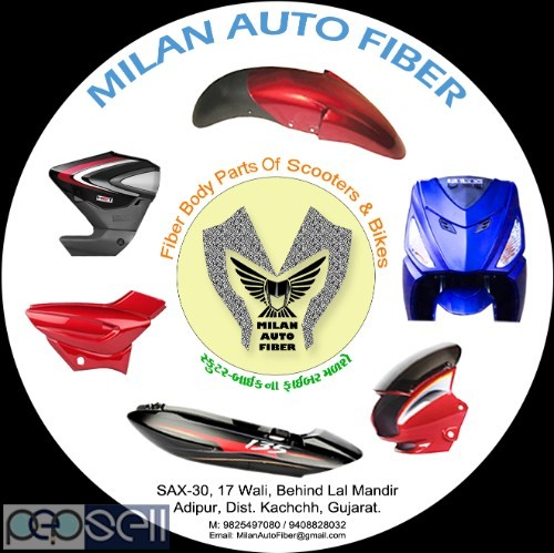 Fiber Body Parts Of Scooters & Bikes 1