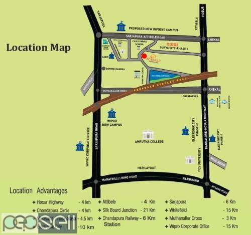 Sun Sparkle plots for sale in KHB Surya Nagar Phase 3 Chandapura Bangalore 3