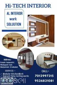 Hi-TECH INTERIOR Kitchen Cupboard work ernakulam Aluva Kalamassery Muvattupuzha