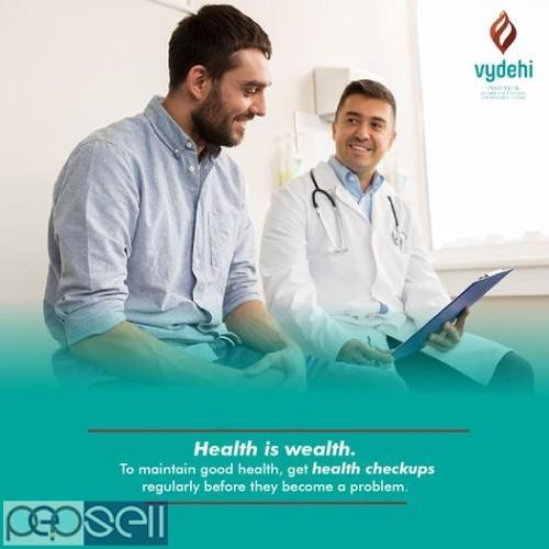 Best MASTER HEALTH CHECK UP at Vydehi Hospital COST : 1600 0