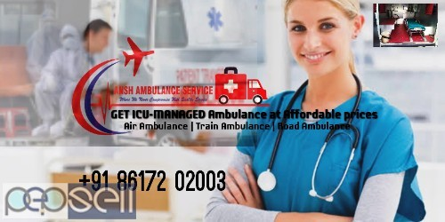 Go Safely Transfer Patient Confidently with Train Ambulance Services Patna to Delhi 0